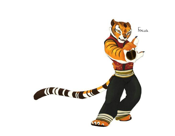 Картинки тигрицы из мультика кунг фу панда, открытку можно