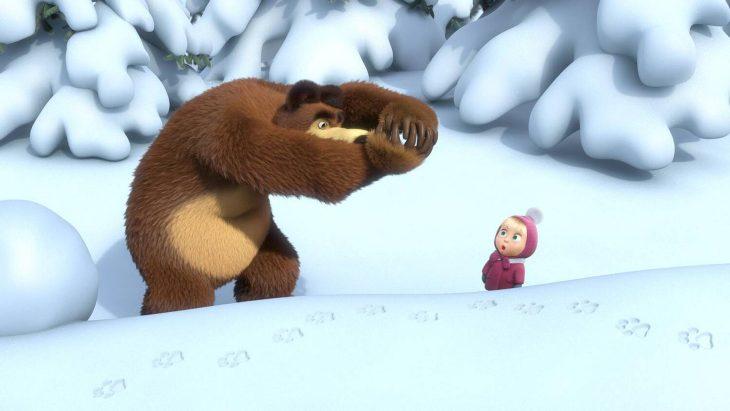 Маша и медведь картинки медведя зимой