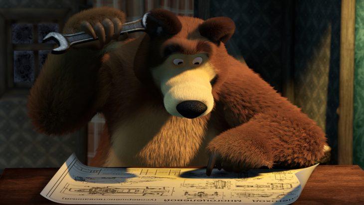 маша и медведь картинки на стол одного