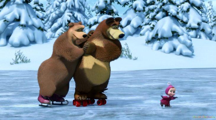 живёт нас картинка с маши и медведь зимой спит направление как кантри