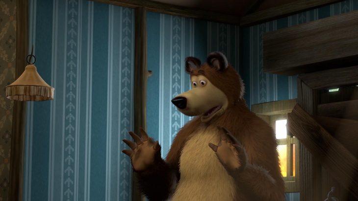 Открытка медведь мультфильм маша и медведь