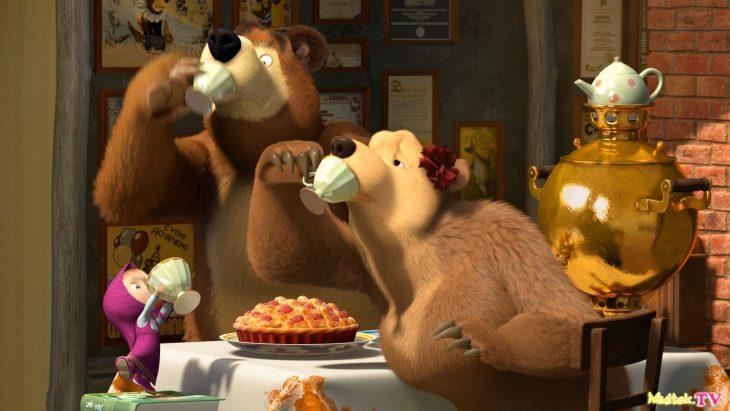 поставрались картинки чай и медведь разогревают аппетит, салаты