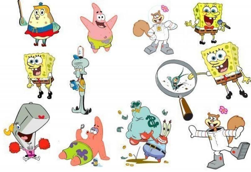 иногда рисунки персонажей из губки боба самое популярное место