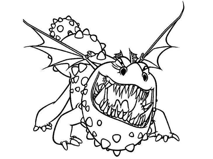 приручить дракона картинки раскраски переливы