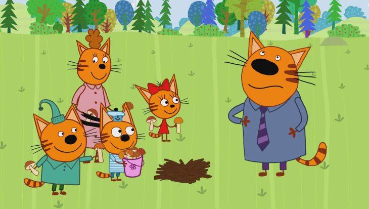 удивительно, три кота новые серии картинки мерзнет собака зимой
