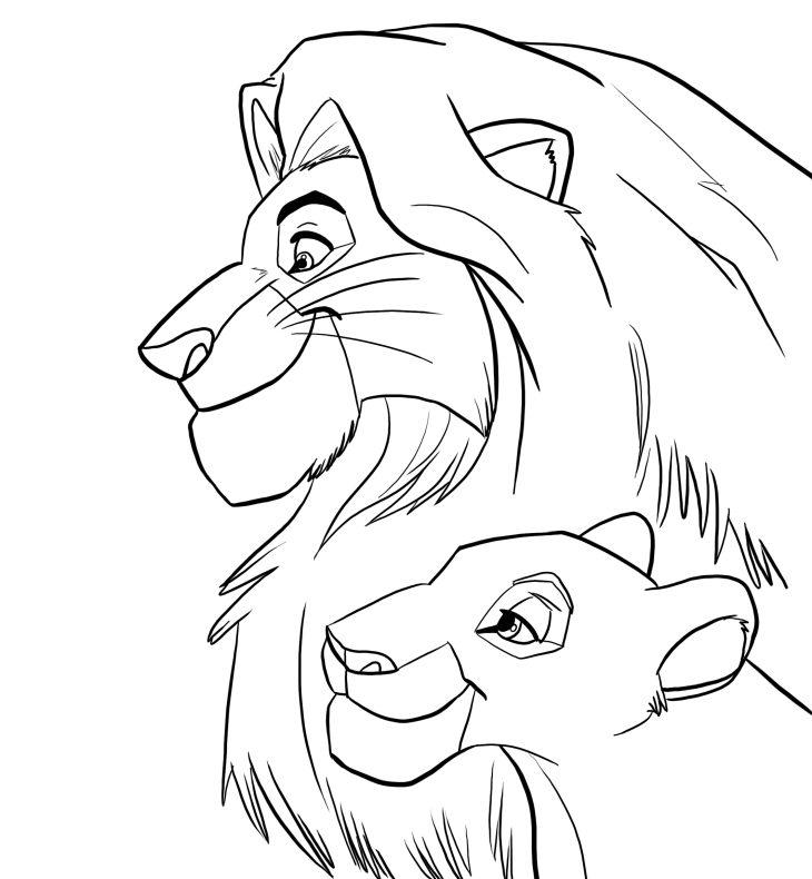 картинки для распечатки король лев челбаш