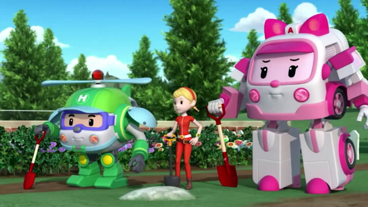 Эмбер из мультсериала «Робокар Поли и его друзья» (30 фото)