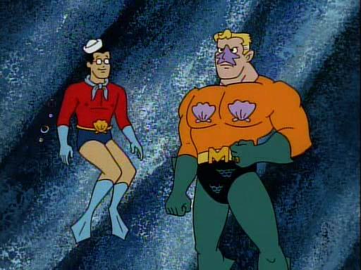 Фото морского супермена и очкарика смело