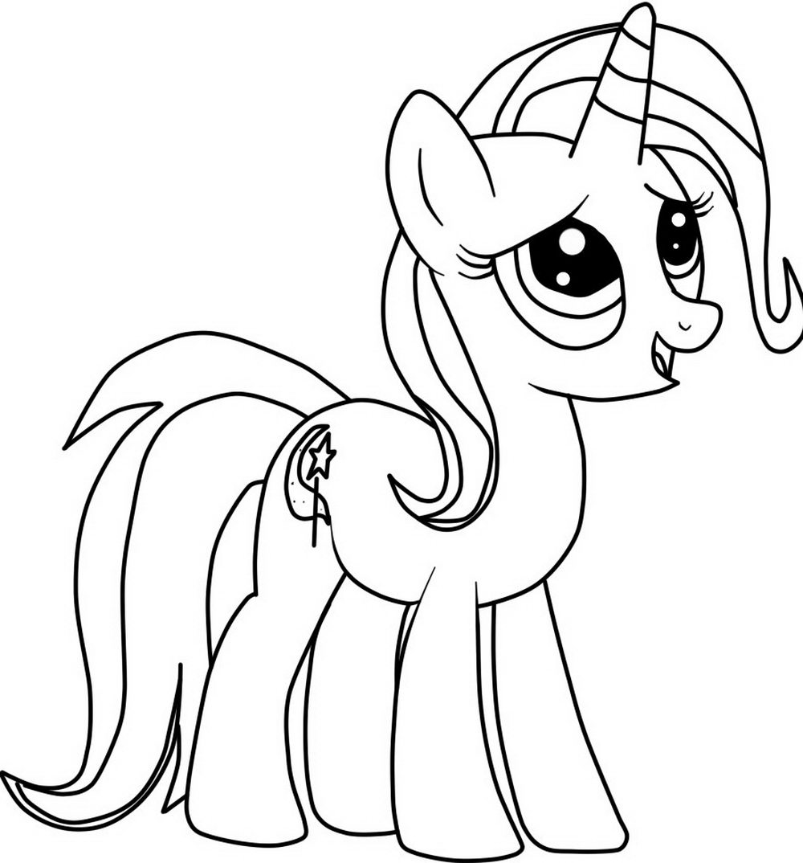 Трикси раскраска пони